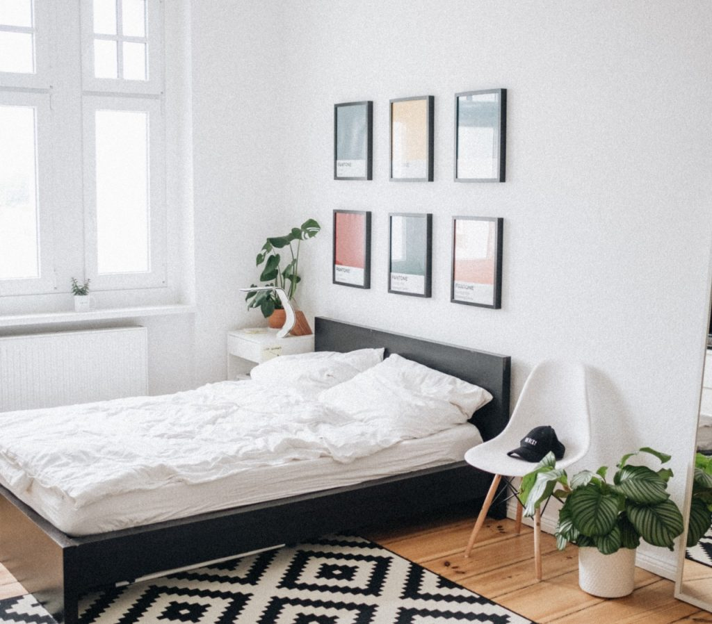 Dormitorio moderno minimalista nórdico